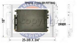 2005-2006 Chrysler 300 A/c Condenser Aci Chrysler A/c Condenser P4040p 05 06