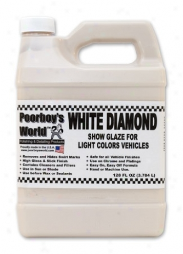 128 Oz. Poorboy?s World White Diamond Show Glaze For Light Vehicles