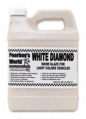 128 Oz. Poorboy?s World White Diamond Show Glaze For Light Vehicles