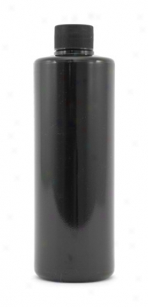 16 Oz. Cylinder Black Bottle With Screw Cap