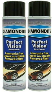 2 Cans Of Diamondite� Perfect Apparition Glass Cleaner Aeosol