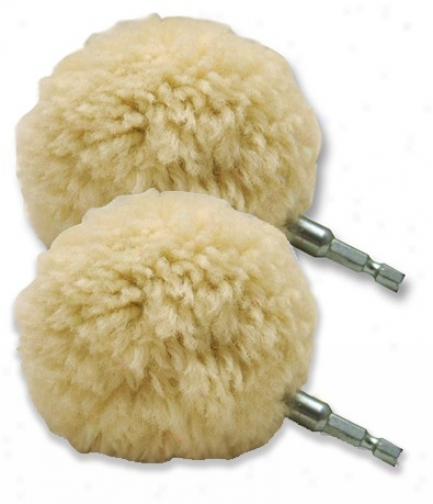 2 Pack 3 Inch Lake County Wool-ball Wool Polishing Balls