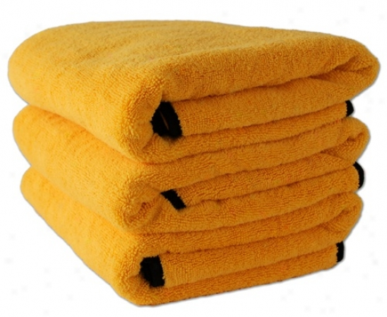 3 Pack Cobra Gold Plhsh Microfiber Towels, 16 X 24 Inches