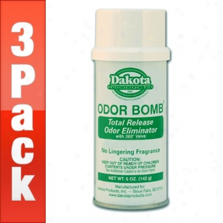 3 Pack  Dakota Odor Bomb Car Odor Eliminator