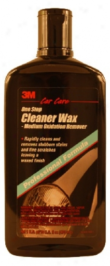 3m One Step Cleaner Wax Medium Oxidation Remover 16 Oz.