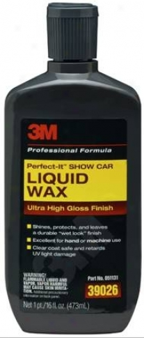 3m Perfect-it Show Car Liquid Wax 16 Oz.