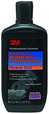 3m Super Duty Rubbing Compound 16 Oz.
