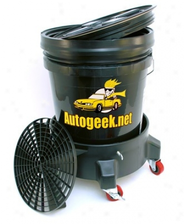 5 Gallon Wet Bucket System With Dolly - Black