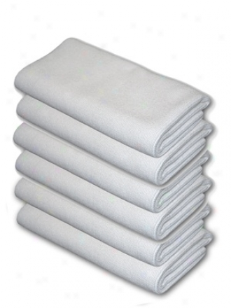 6 Pack Cobra Arctic White Edgeless Microfiber Polishing Cloths