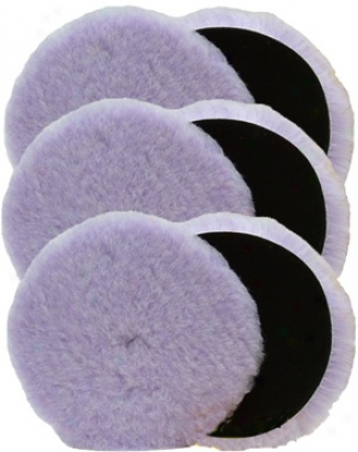 6 Pack Foamed Wool 7.5 Inch Poliahing/buffing Pads