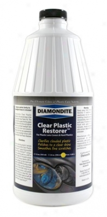 64 Oz. Diamondite Clear Plastic Restorer