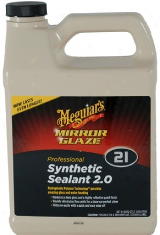 64oz. Meguiars Mirror Glaze #21 Synthetic Sealant 2.0