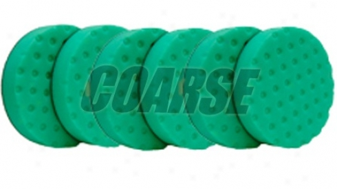 Ccs 6.5 Inch Coarse Green Cutting/polishing Pad 6 Pack