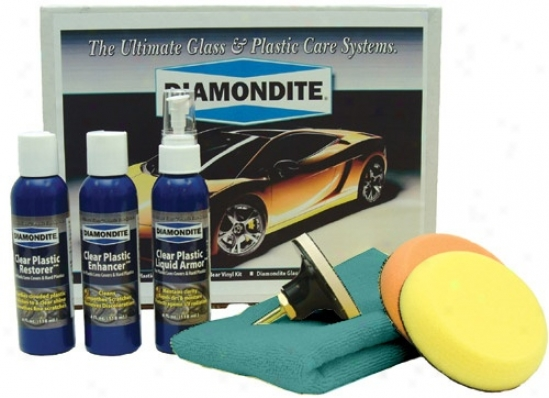 Diamondite� Clear Soft System Kit For Plastic Headlight Lenses.