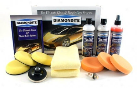Diamondite Professional Clear Plastic Kit For Headlight Lenses