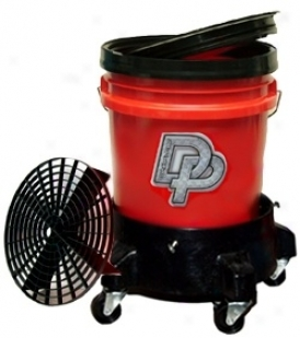 Dp 5 Gallon Stain Bucket System Wity Dolly  Available In Black, Red, & Clear