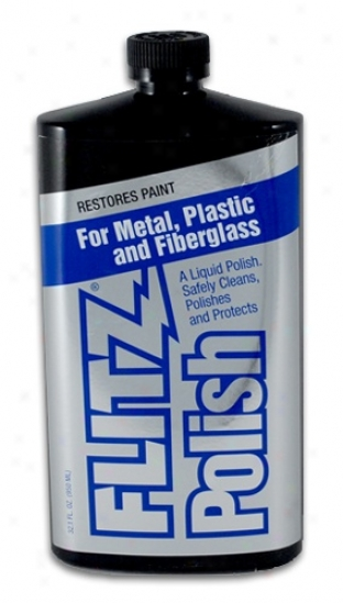 Flitz Metal Polish, Fiberglass & Paint Restorer 32.1 Oz. Liquid