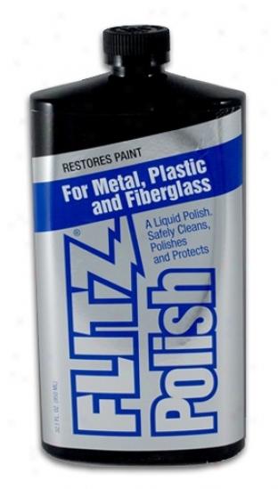 Flitz Metal Polish, Fiberglass & Paint Restorer 32.1 Oz. Liquid