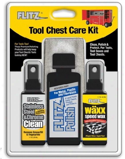 Flitz Tool Chest Care Kit