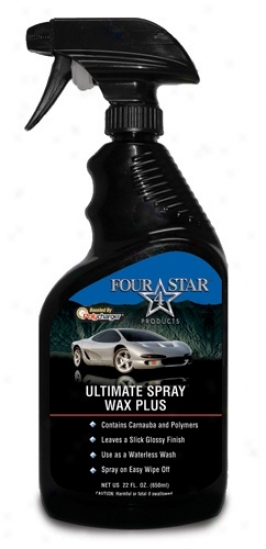 Four Star Ultimate Spray Wax Plus Boosted Wuth Polychargef!