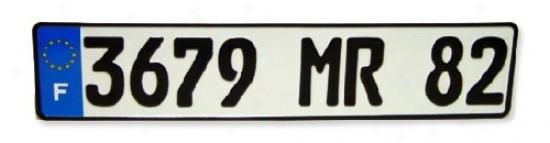 France Eec License Plate