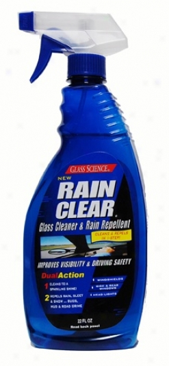 Glass Science Rain Clear Dual-action Glass Cleaner & Rain Repellant 22 Oz.