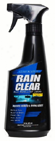 Glass Science Rain Clear Wndshield Repellant Spray 16 Oz.
