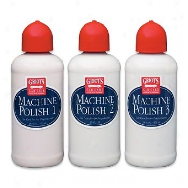 Griot's Garage Set Of 3 Machine Polishes