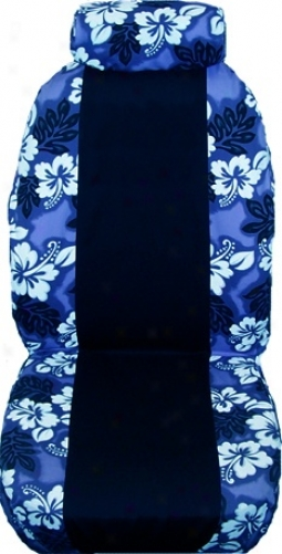 Hawaiian Two-tone Custom Seat Covers 1 Pair For Cars