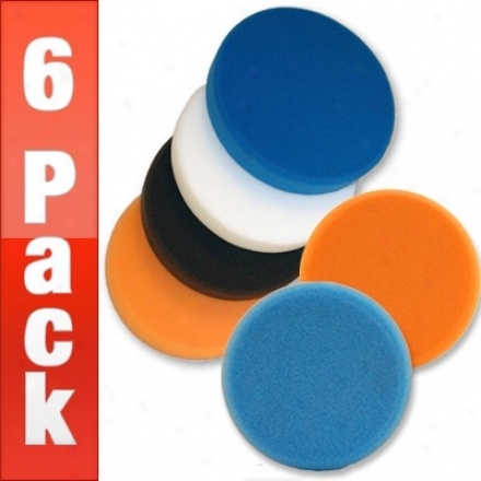 Lake Country 6.5 Flat Pads 6 Gang - Your Choice!