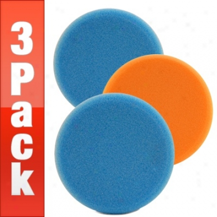 Lake Country Hydro-tech 6.5 Inch Foam Pads 3 Pack - Your Choice!