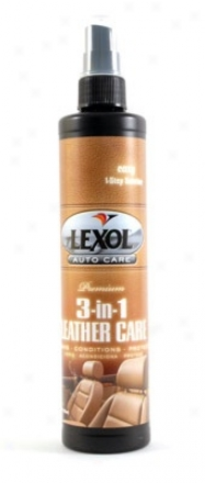 Lexol Premium 3-in-1 Leather Cate 10 Oz.