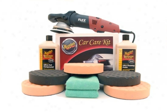 Meguiars Flex 3401 Ultra Polish Kit With 6.5 Inch Pads Free Bonus