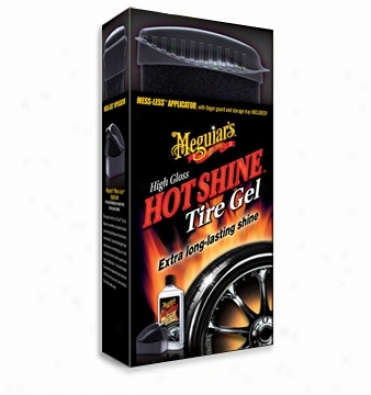 Meguiars High Gloss Hot Shine Tire Gel & Zero Mess Applicator