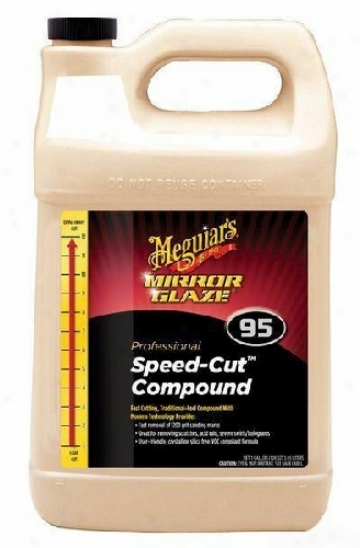 Meguiars Mirror Glaze #95 Speed-cut Compound 128 Oz.