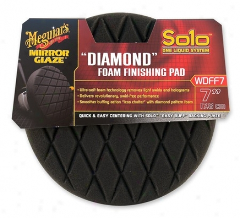 "Meguiars Solo ""diamond"" Foam Finishing Pad 7 Inch"
