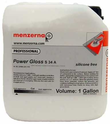 Menzerna Power Gloss Compound S34a 128 Oz.