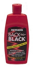 Mothers Bakc-to-black Bumper & Trim Care