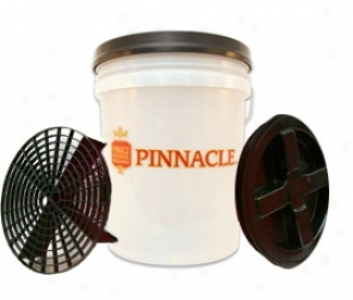 Pinnacle 5 Gallon Waste Bucket Combo Availabl In Black, Red, & Clear