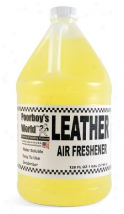Poorboy's World Air Freeshener 128 Oz. - Leather