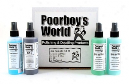 Poorboy's Planet Quick Detail Sample Kit