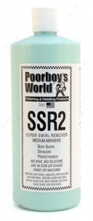 Poorboy's World Ssr2 Medium Abrasive Swirl Remover 32 Oz.