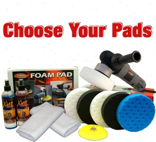 Porter Cable7 424xp & Ccs Pad Outfit  - Choose Your Pads!  Free Bonus