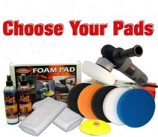 Porter Cable 7424xp & Flat Pad Kit - Choose Your Pads! Free Bonus