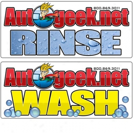 Wash & Rinse Bucket Labels
