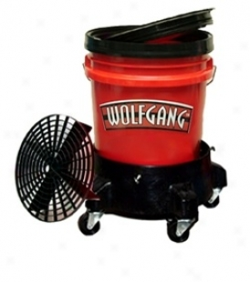 Wolfgang 5 Gallon Stain Bucket System With Dolly To be availed of In Black, Red, & Clear