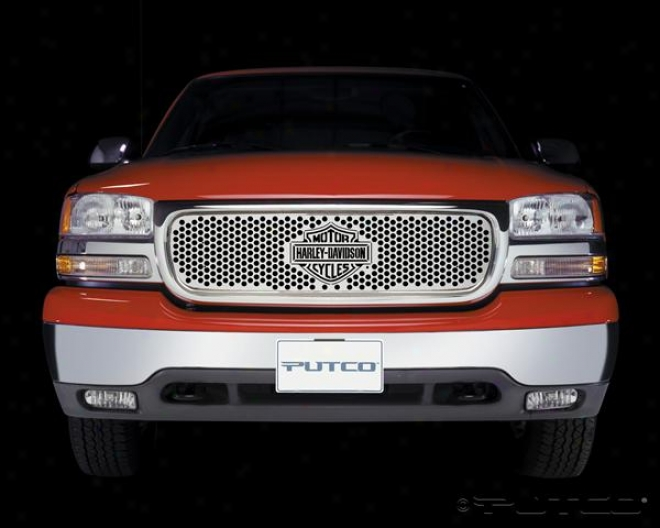 00-06 Gmc Yukon Putco Grille Insert - Punch With Bar & Shield 52102
