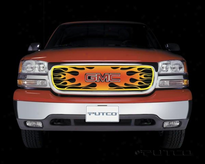 00-06 Yukon Putco Flaming Inferno Stainless Steel Grilles - 4 Color (painted)