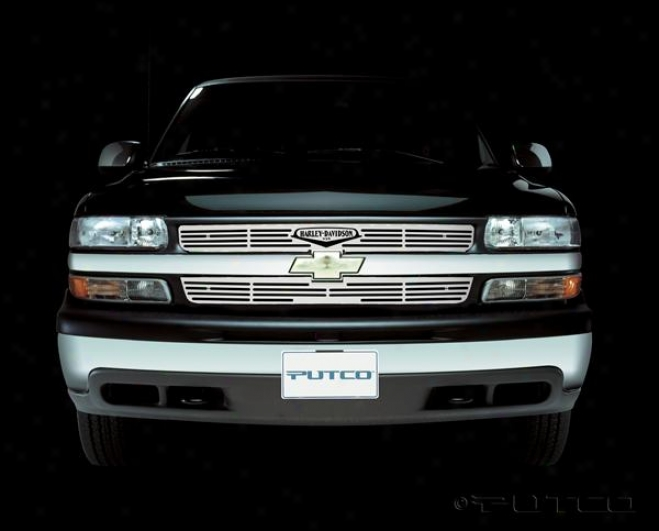 01-02 Silverado 1500 Putco Griille Set in - Liquid With Classic Logo