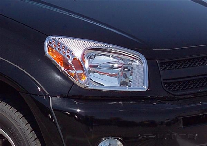 01-03 Toyota Rav4 Putco Head Lamp Overlays & Rings 403204